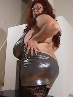 big boobs riding black stud